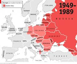 Germany Europe Map by Cold War Eastern Europe Map 1949 1989 Carto Pinterest
