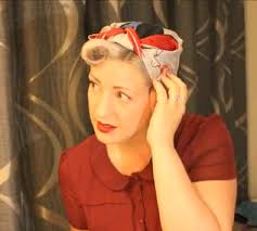 1940s bandana hairstyles how to tie a 1940s rosie the riveter head scarf 1940 s
