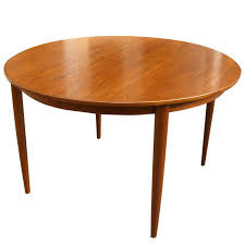 Round Teak Table And Chairs Round Teak Dining Table Danish Mid Century Modern Round Teak