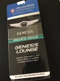 tickets 2017 super bowl tickets genesis lounge in game hospitality