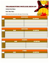 5 printable thanksgiving potluck sign up sheet template templatesz234