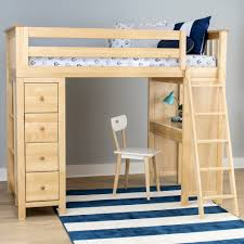 Bunk Bed With Storage And Desk Jackpot All In One Loft Bed Storage Study N Cribs