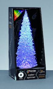 premier 30cm colour changing light up led water spinner christmas