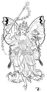 coloring page fairy coloring home