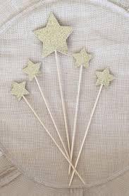 gold glitter star cake topper set 5 twinkle twinkle little star