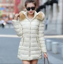2017 2016 fashion women clothes winter coat raccoon fur collar