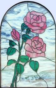 Flower Glass Design 264 Best Stain Glass Flowers Images On Pinterest Stained Glass