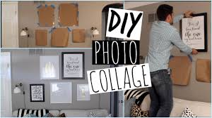 Picture Wall Collage by How To Create A Photo Collage On Your Wall Youtube