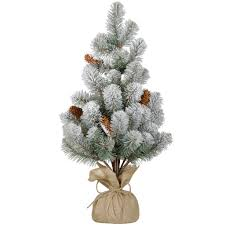 find the flocked christmas tree with pinecones by ashland at michaels