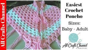 easiest crochet poncho baby to sizes yolanda soto lopez