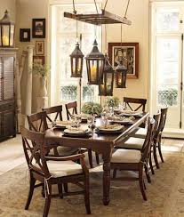 Pottery Barn Livingroom Decorating Pottery Barn Dining Room With Antique Pendant Lighting