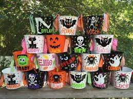 personalized trick or treat bags best 25 buckets ideas on