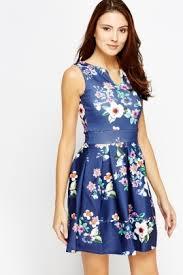 navy floral skater dress just 5