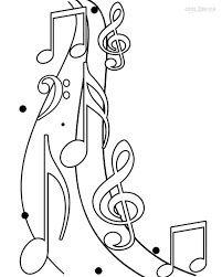 music note symbol coloring pages