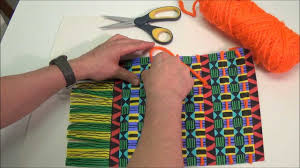 paper strip kente weaving project 164 youtube