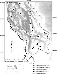 Western Montana Map by Fig 2 Map Showing Western Montana And Location Of Snotel Sites