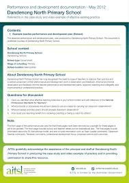 example teacher performance and development plan
