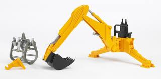 bruder excavator amazon com bruder rear hydraulic arm with grab toys u0026 games