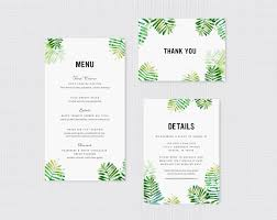 botanical ferns watercolor wedding invitation fine day press