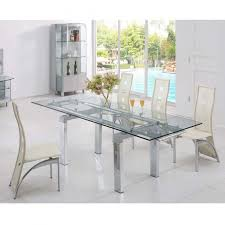 Clear Dining Room Table Amusing Clear Glass Dining Table And 6 Chairs 86 For Modern Dining