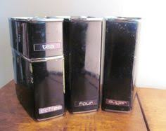 vintage lincoln beautyware metal curved canister set canister