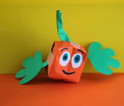 Halloween Crafts Construction Paper by Fine Motor Paper Pumpkin Crafts For Halloween Momgineer