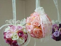 flower balls purple fabric flower artificial flower wedding