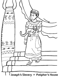 joseph u0027s slavery at potiphar u0027s house coloring sheet wesleyan kids
