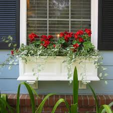 trendy potter rectangle iron rustic window box plantersat