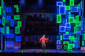 led panels light up set for lyric theatre production of me