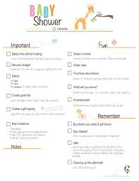 bridal shower registry checklist photo baby shower planning checklist excel image
