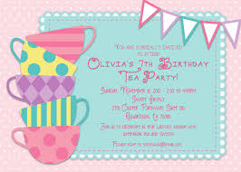 Birthday Invitation Cards For Kids Tea Party Invitations A Blog About Tea Party Invitations
