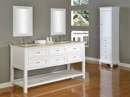 Double Sink Vanity Mirrors Bathroom Modern Black Double Sink Vanity With Cabinet Set And