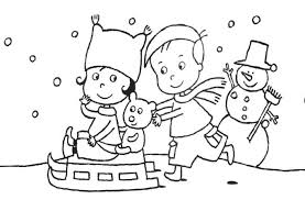 sledding coloring pages winter sled coloring page happy sledding