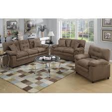 microfiber sofa and loveseat esofastore dark brown 3pc microfiber sofa set sofa loveseat chair