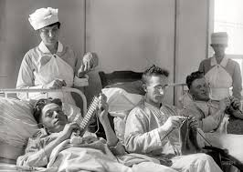 american soldiers knitting walter reed military hospital circa