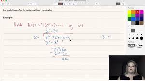 long division of polynomials no remainder youtube