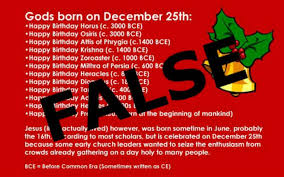 were many pagan gods born on december 25th here s the