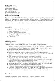 Ups Package Handler Job Description Resume Fedex Material Handler Cover Letter