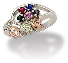mothers ring with birthstones 18 best black gold mothers rings images on