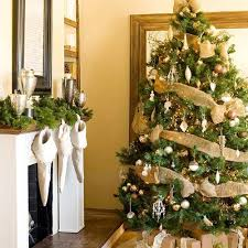 tree bow decorations lights card and decore