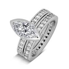 marquise cut wedding set 2 carat marquise cut wedding ring set for withfeelings