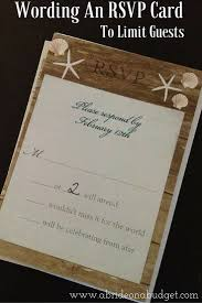 Invitation With Rsvp Card Wording An Rsvp Card To Limit Guests A Bride On A Budget