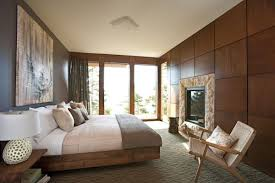 modern bedroom design with brown color schemes interior design