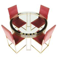 brass tables for sale romeo rega centre table and chairs in chrome and brass for sale at