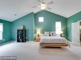 modern master bedroom with carpet u0026 ceiling fan in reston va