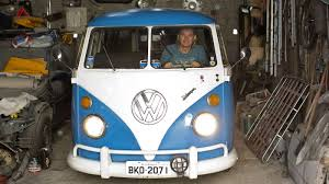volkswagen van hippie blue no way man last vw bus to soon roll off assembly line the two