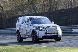 blue land rover discovery 2017 2017 land rover discovery testing at the nurburgring autoevolution