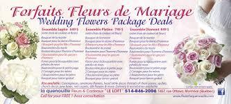 wedding package deals floral arrangements flower delivery in montreal florist