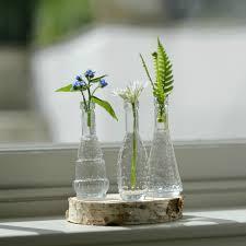 3 Vases Set Bottles Mini Vintage Glass Bud Vase Set Of 3 Flower Studio Shop